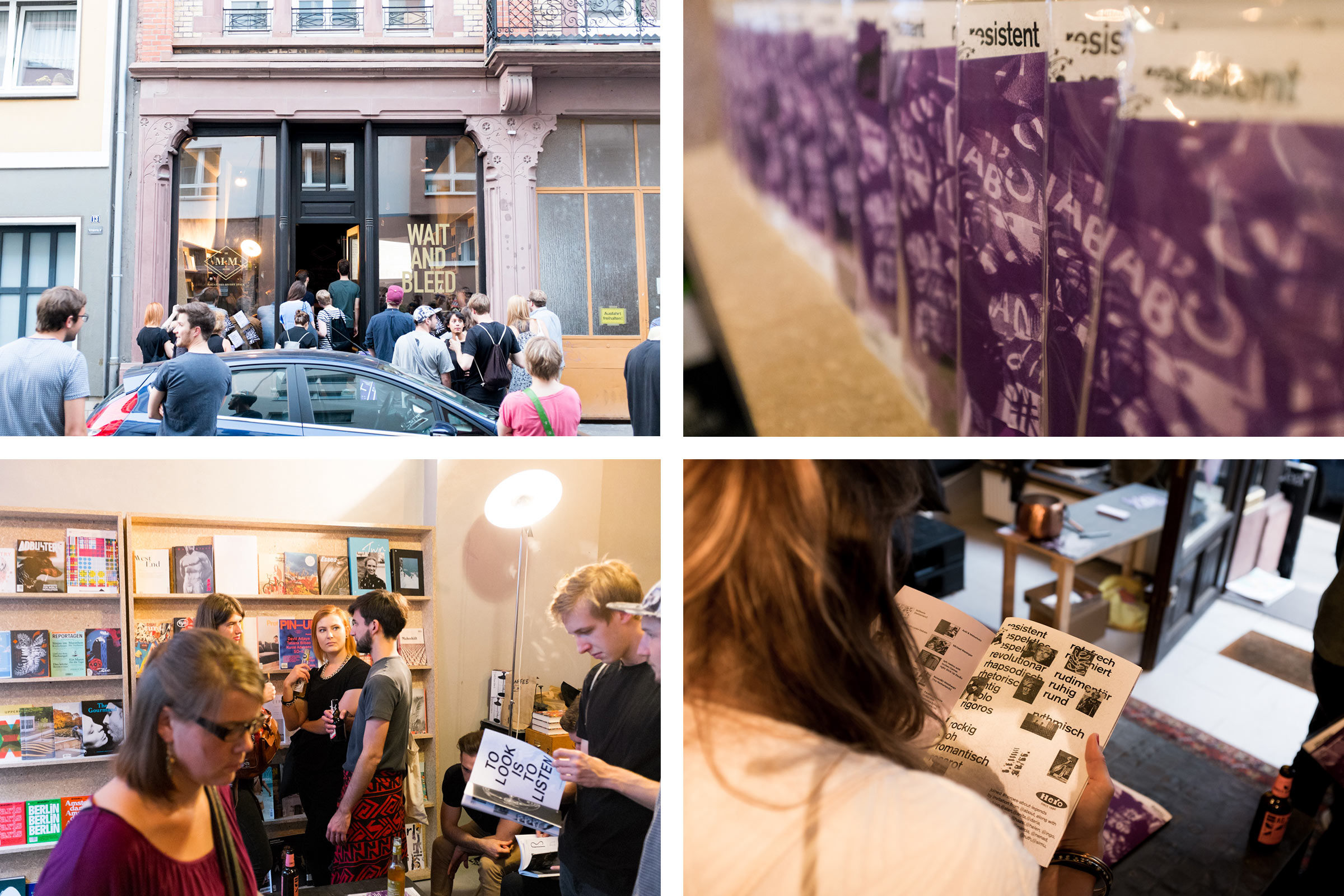 ABOUT Fanzine Vernissage bei One in a Million © Christian Weber – Büro für Gestaltung und Kommunikation