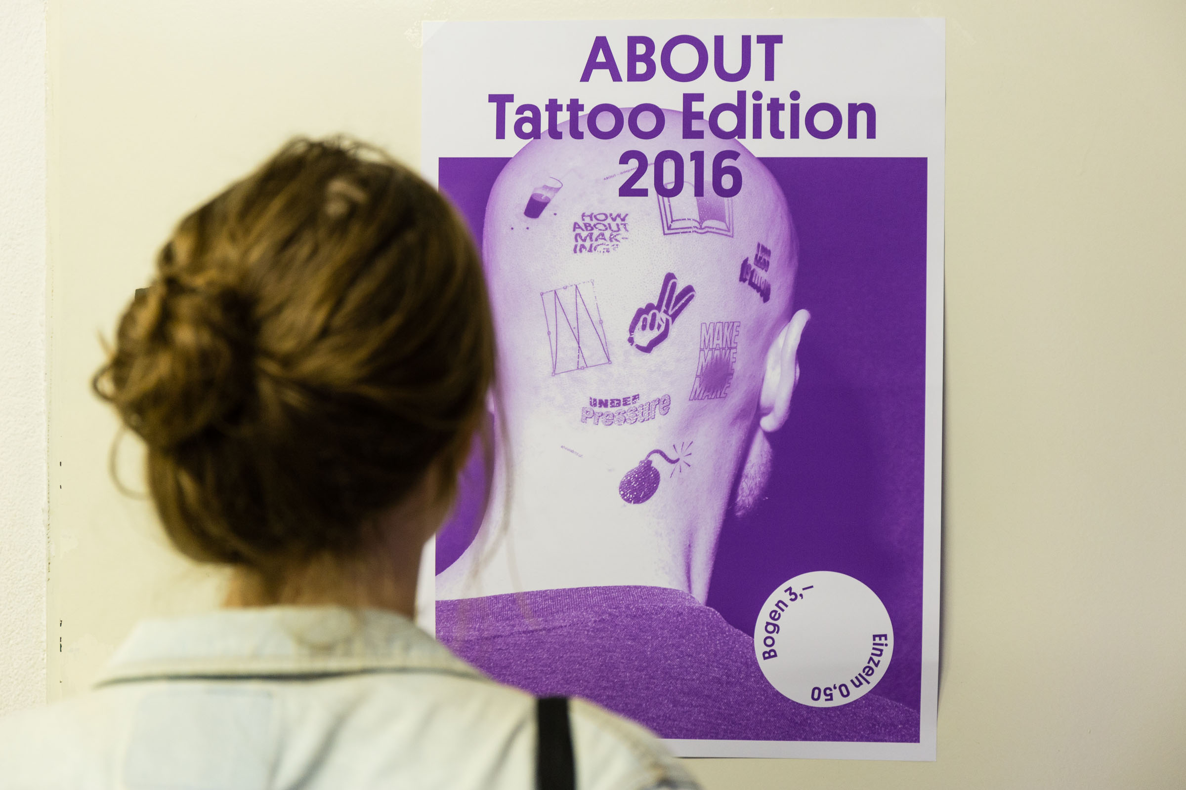 ABOUT – Independent Publishing Fair Plakat Tattoo-Edition 2016 © Christian Weber – Büro für Gestaltung und Kommunikation