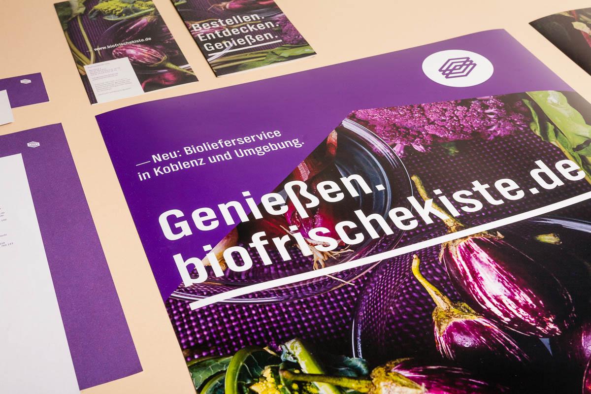 Biofrischekiste Corporate-Design Detailansicht Plakat © Christian Weber – Büro für Gestaltung und Kommunikation