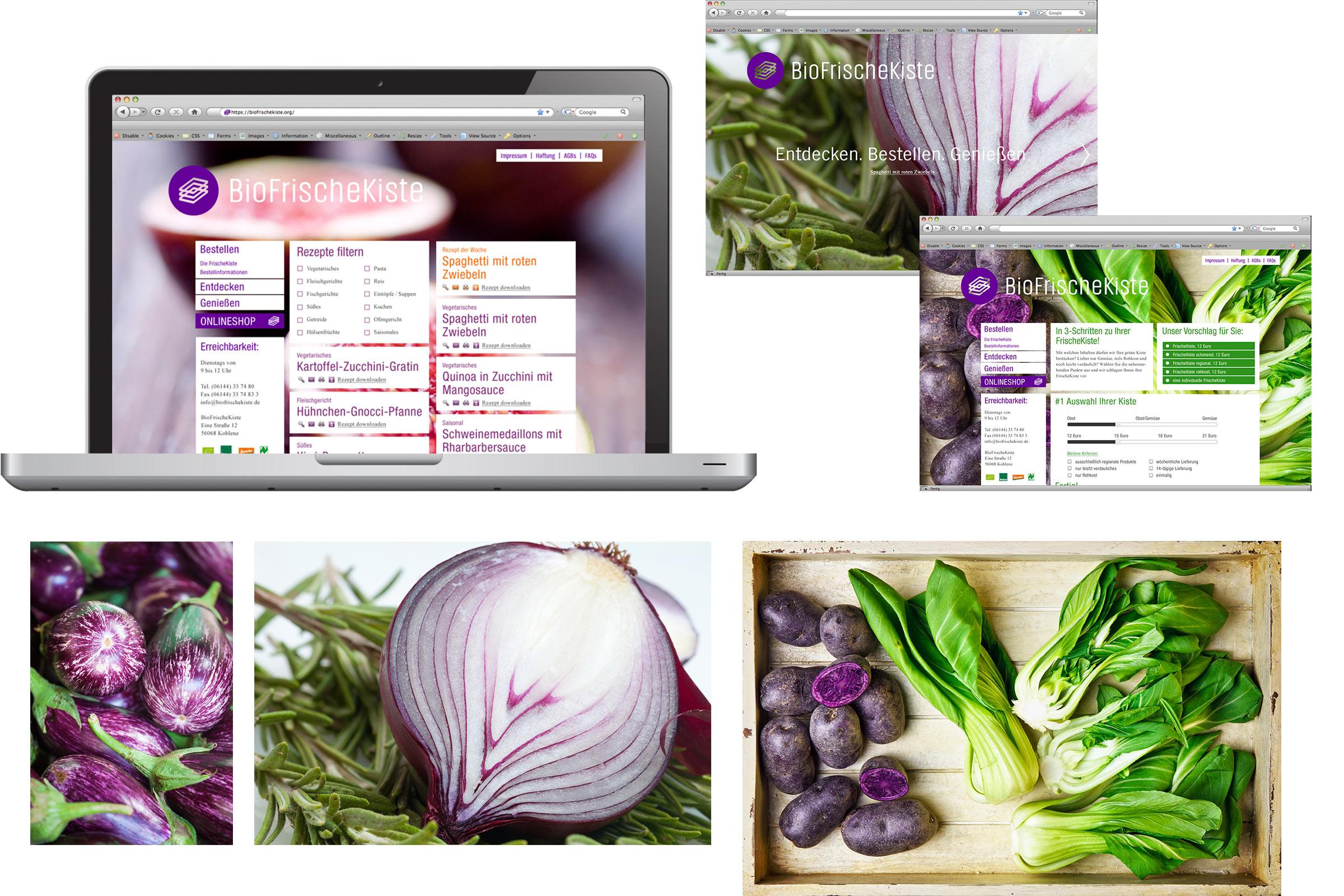 Biofrischekiste Corporate-Design Webseite und Bildwelt © Christian Weber – Büro für Gestaltung und Kommunikation