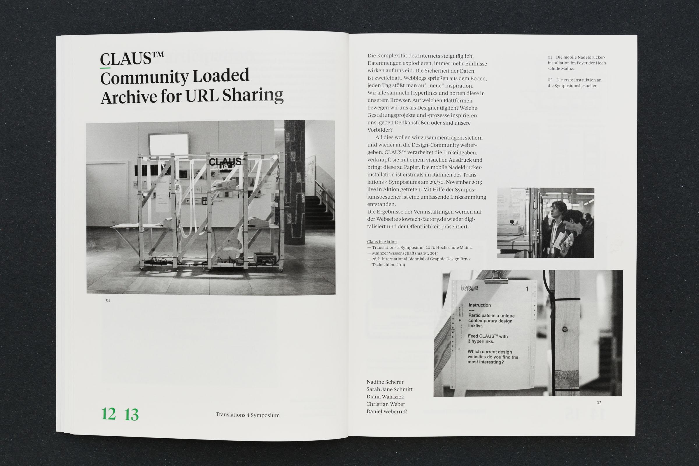 Doppelseite innen mit Text und Bild Werkbericht – Design for Participation © Christian Weber – Büro für Gestaltung und Kommunikation