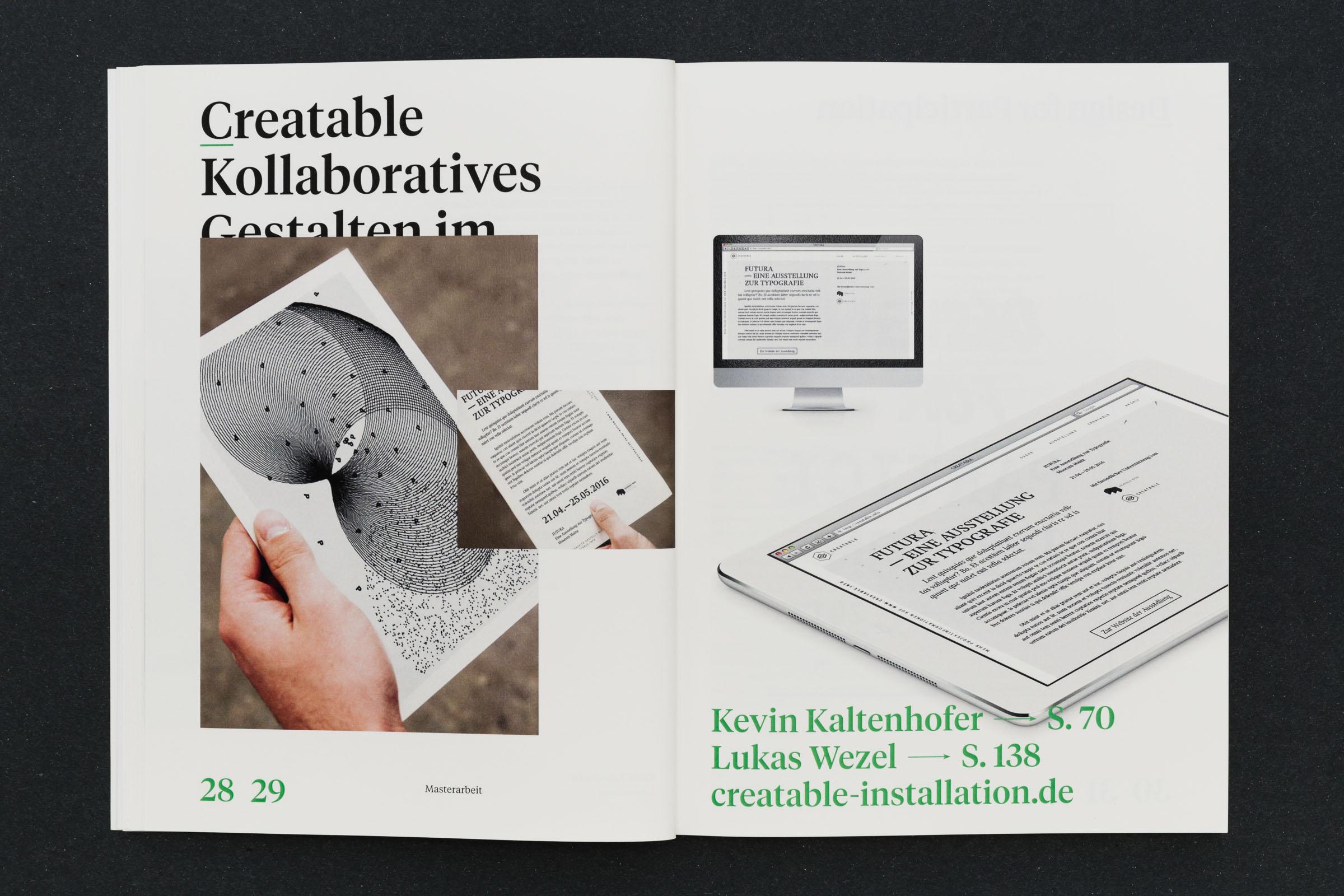 Bild eines Ausdruckes und Webseite auf Tablet-PC Werkbericht – Design for Participation © Christian Weber – Büro für Gestaltung und Kommunikation