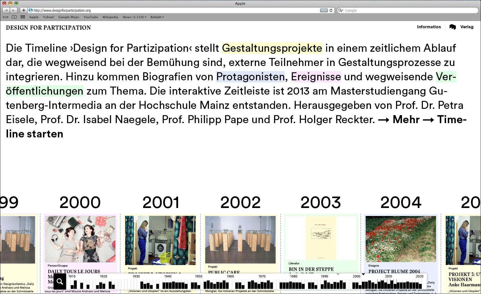 Startseite mit Begrüßungstext Webseite für Designlabor Gutenberg-Intermedia © Christian Weber – Büro für Gestaltung und Kommunikation