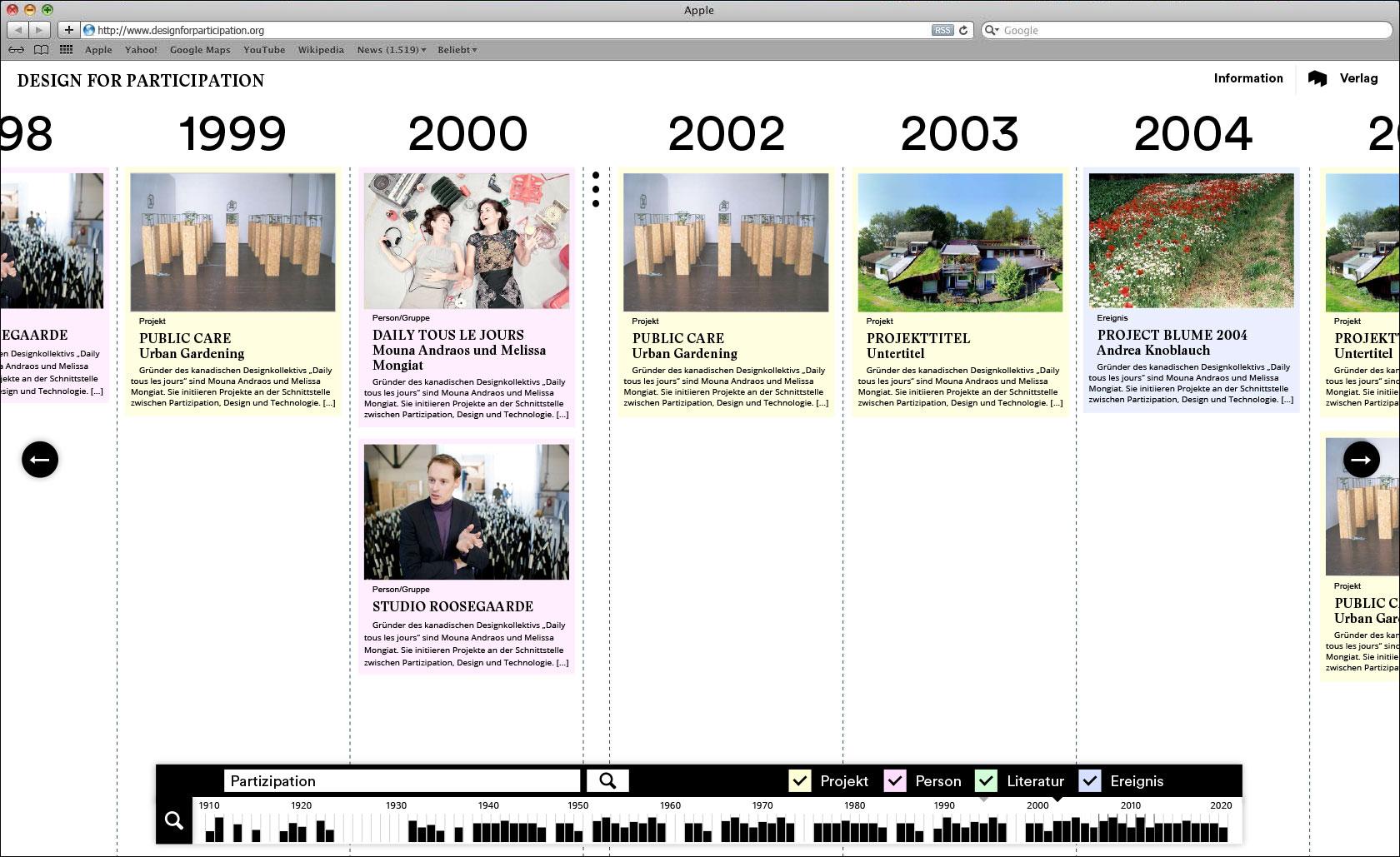 Gefilterte Einträge Webseite für Designlabor Gutenberg-Intermedia  © Christian Weber – Büro für Gestaltung und Kommunikation