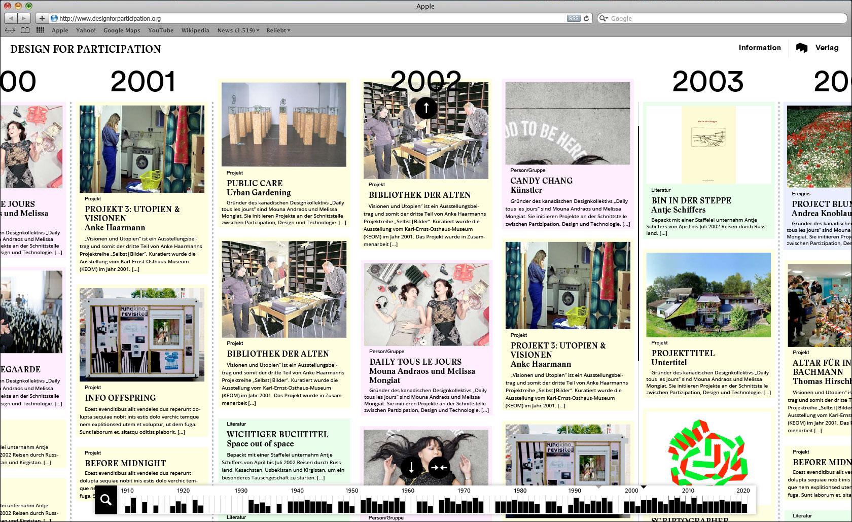 Verbreiterung des Ansichtsbereichs je Zeiteinheit Webseite für Designlabor Gutenberg-Intermedia  © Christian Weber – Büro für Gestaltung und Kommunikation