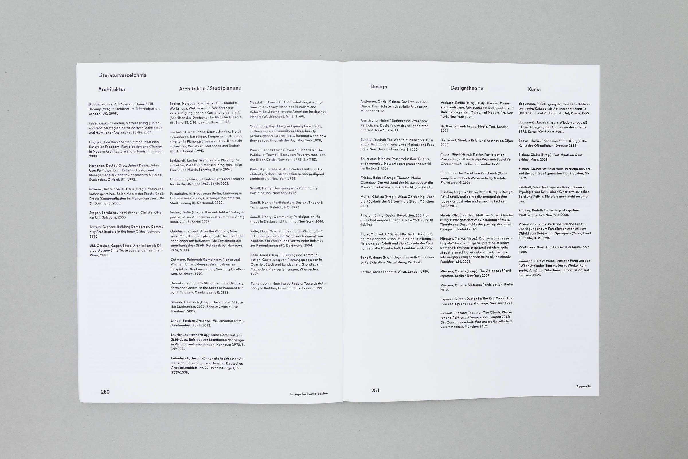 Design for Participation Buchgestaltung Doppelseite Glossar © Christian Weber – Büro für Gestaltung und Kommunikation