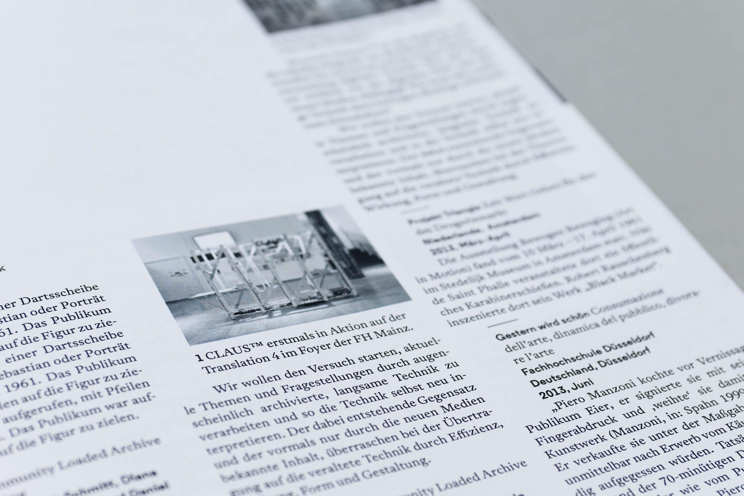 Design for Participation Buchgestaltung Detailansicht lexikalischer Teil mit Typografie und Bildern © Christian Weber – Büro für Gestaltung und Kommunikation