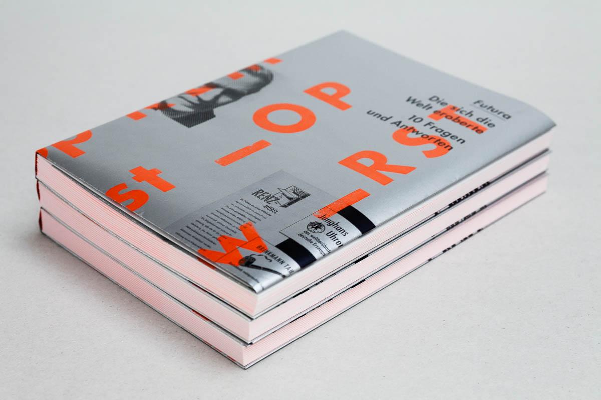 Futura – Die sich die Welt eroberte. 10 Fragen und Antworten. Buch mit Plakatumschlag © Christian Weber – Büro für Gestaltung und Kommunikation