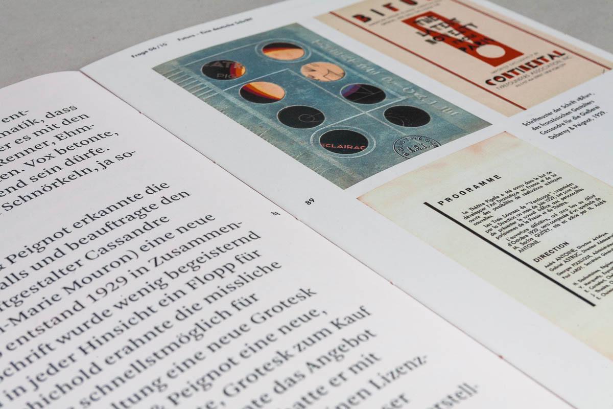 Close Up Typografie und Seitenzahlen Futura – Die sich die Welt eroberte. 10 Fragen und Antworten. © Christian Weber – Büro für Gestaltung und Kommunikation