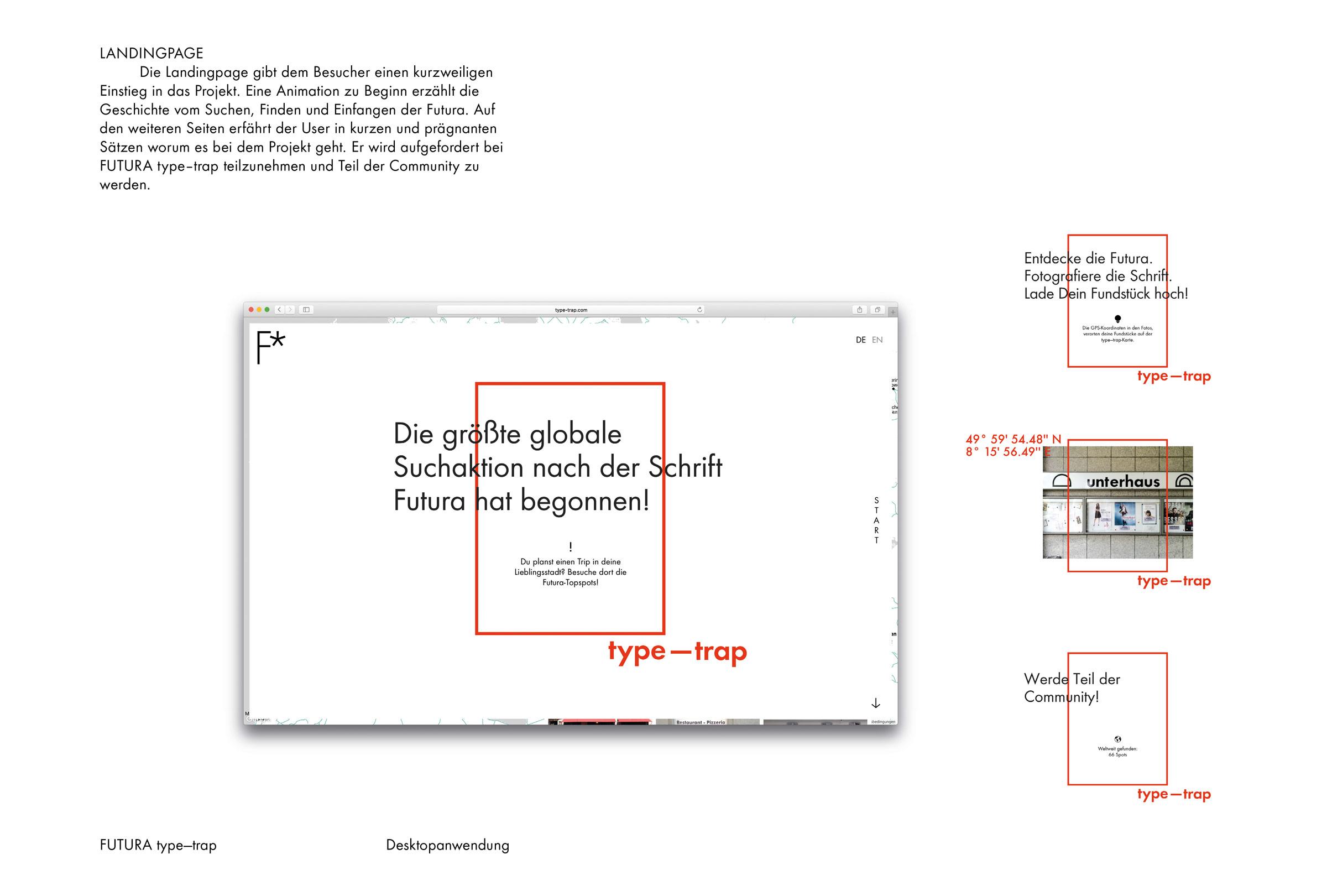 FUTURA type-trap – Landingpage © Christian Weber – Büro für Gestaltung und Kommunikation