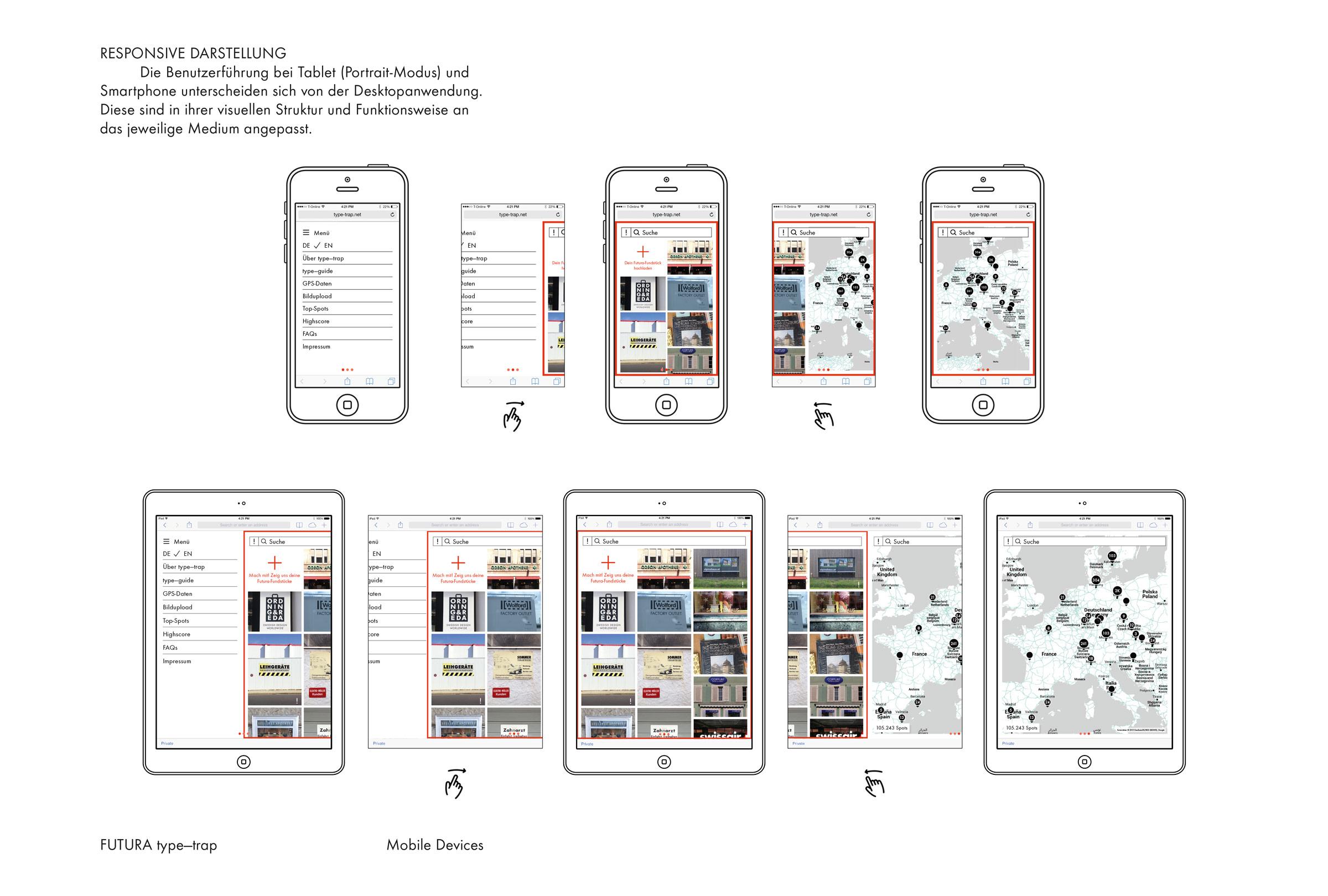 FUTURA type-trap – Responsive Darstellung © Christian Weber – Büro für Gestaltung und Kommunikation