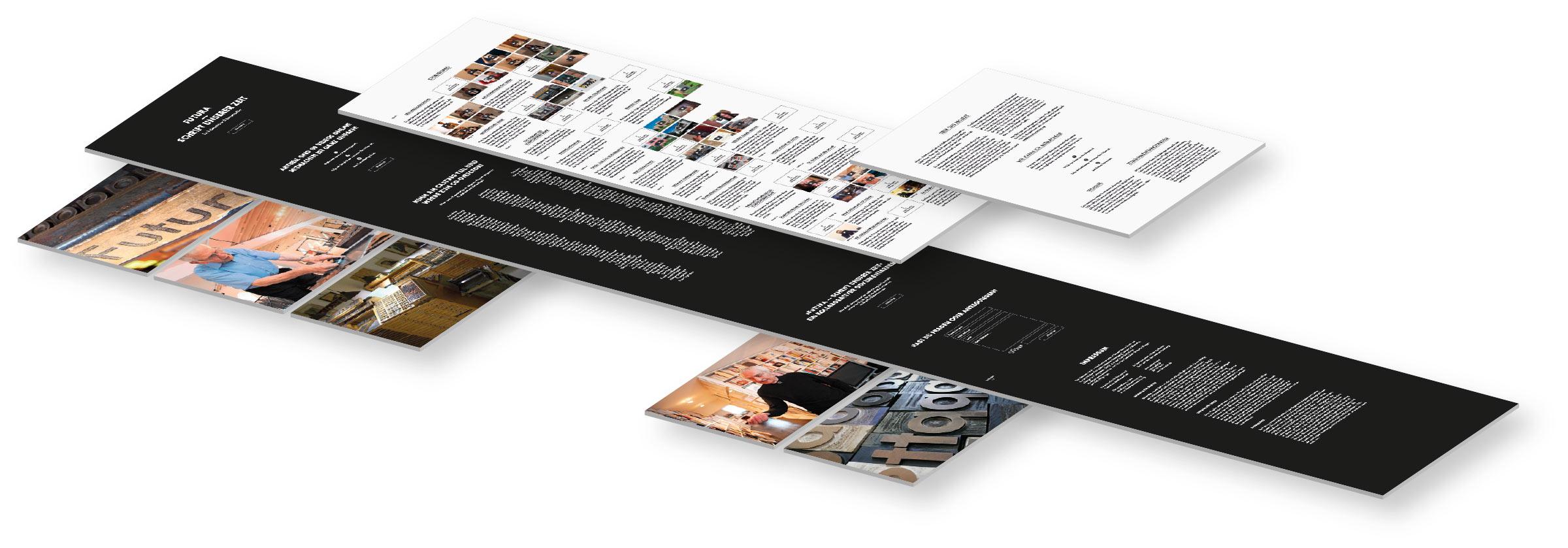 Layerdarstellung der Webseite © Christian Weber – Büro für Gestaltung und Kommunikation