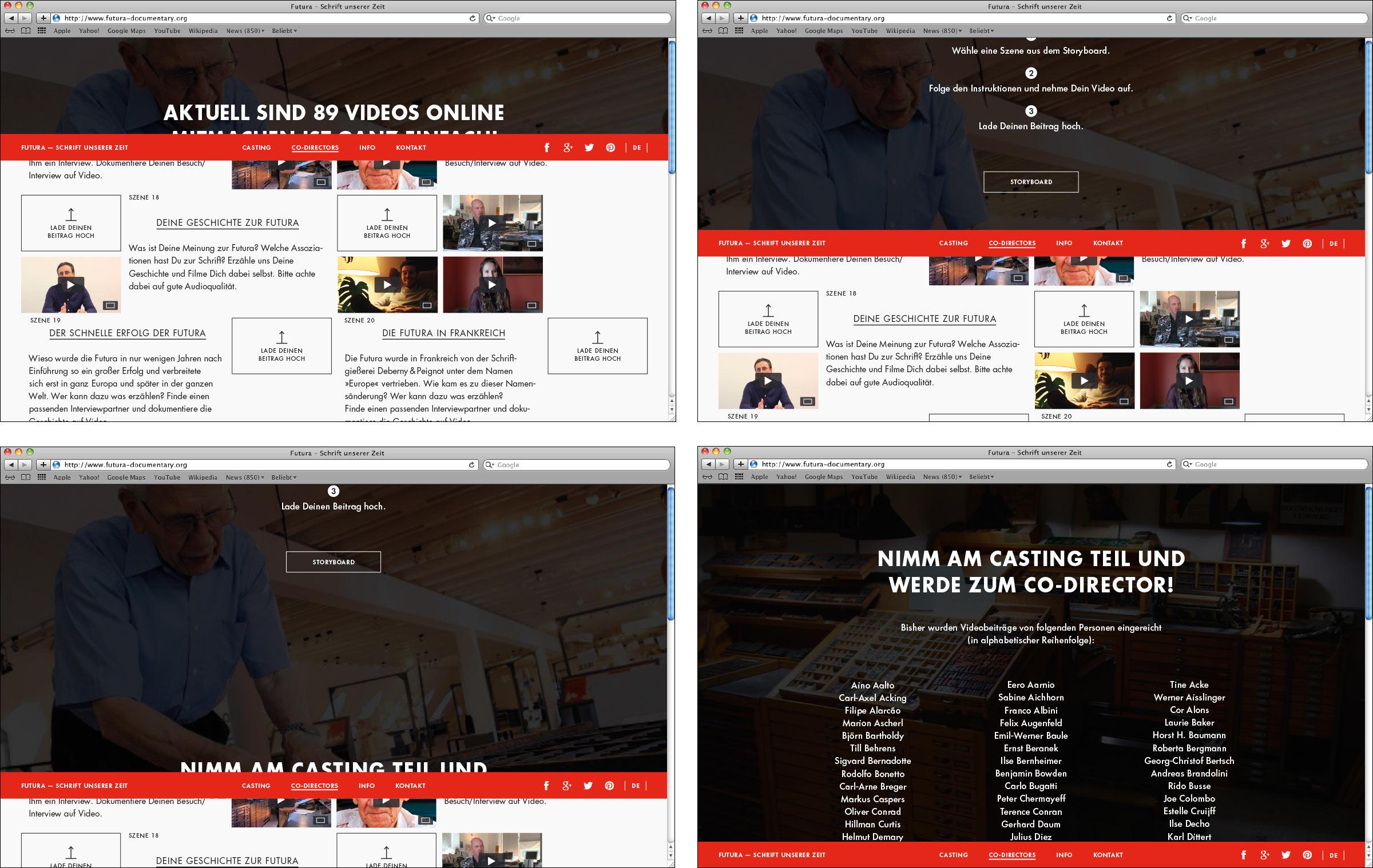 Overlay schließt sich bei Scrolling auf der Webseite © Christian Weber – Büro für Gestaltung und Kommunikation