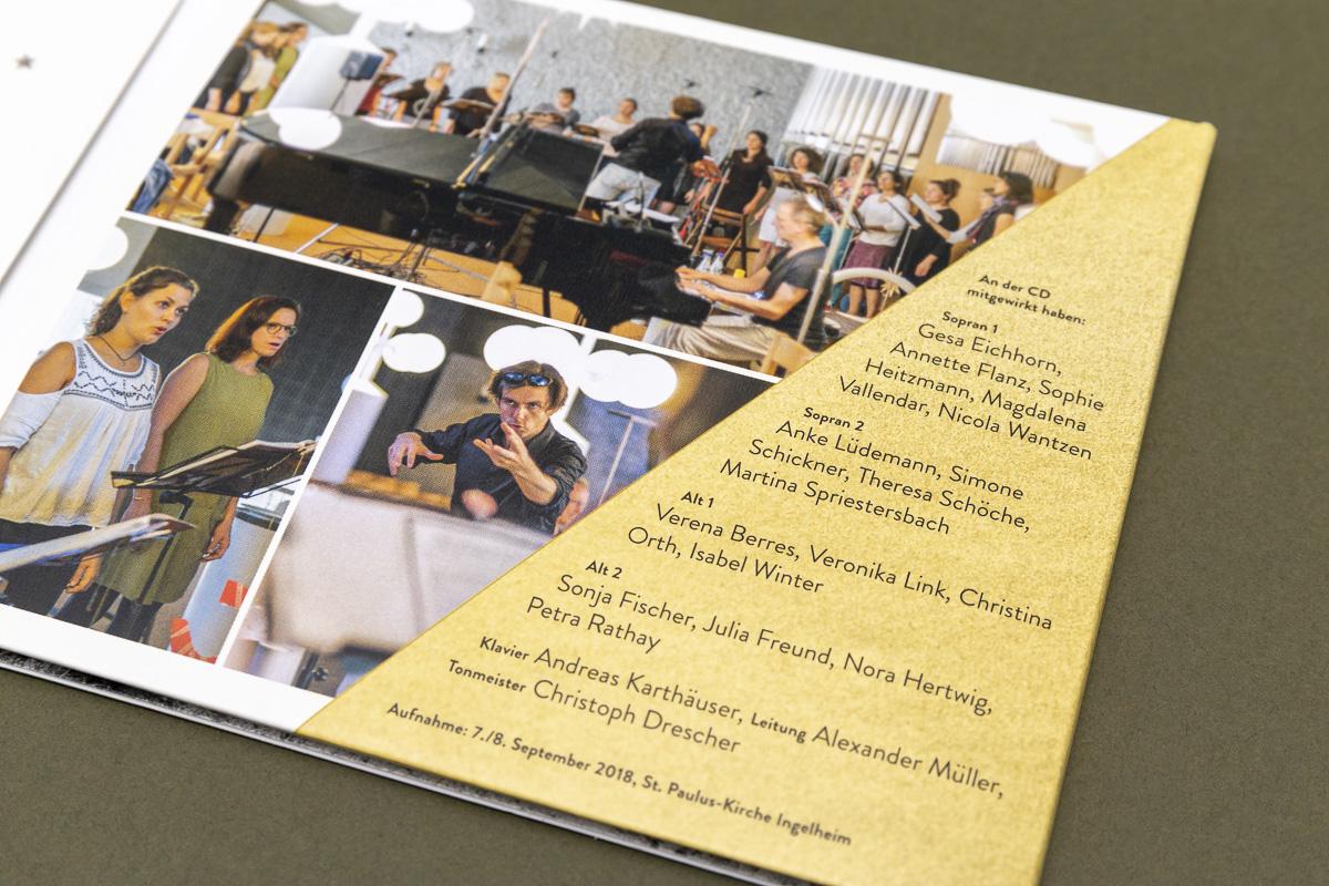 Bilder und Typografie, CD-Cover für Chor Clara Voce © Christian Weber – Büro für Gestaltung und Kommunikation