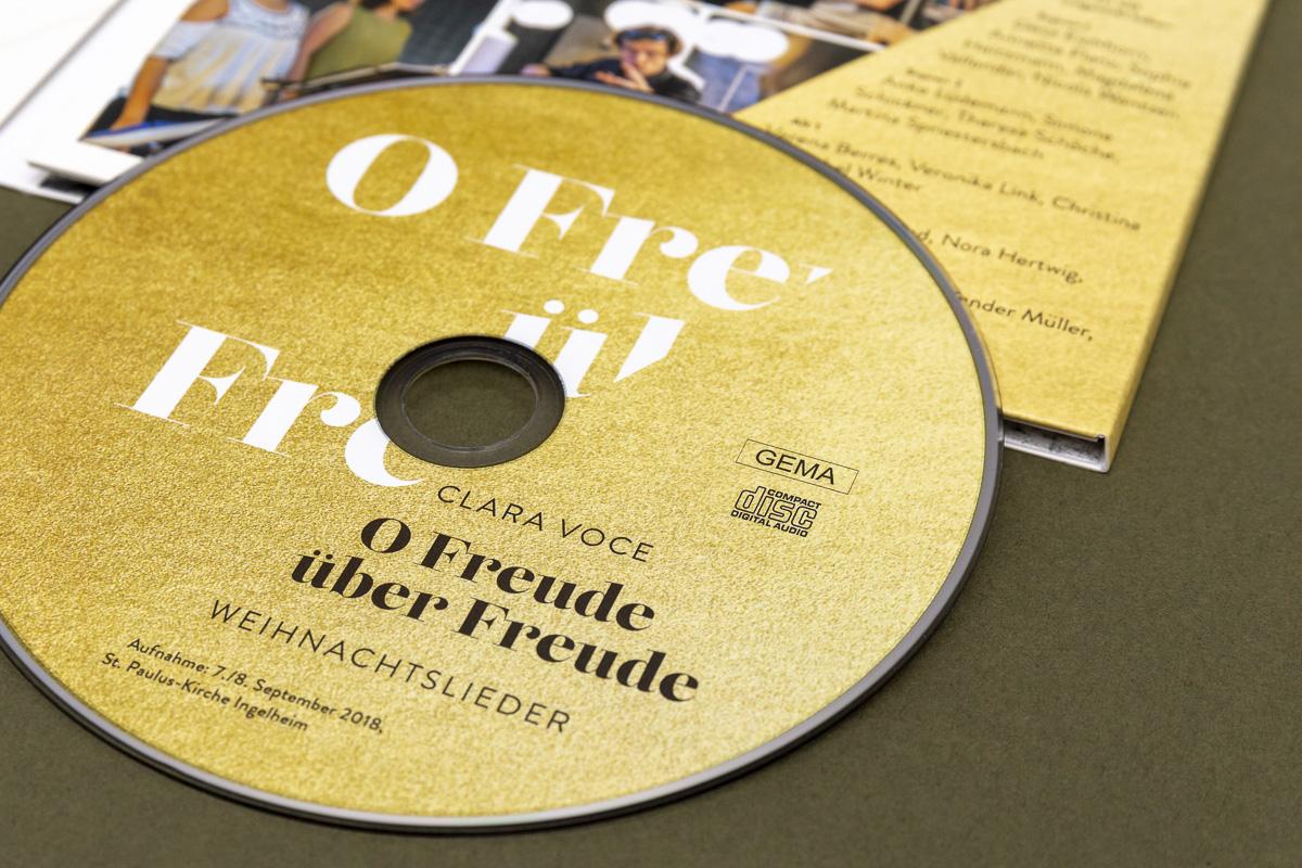 Grafikdesign für CD-Bedruckung für Chor Clara Voce © Christian Weber – Büro für Gestaltung und Kommunikation