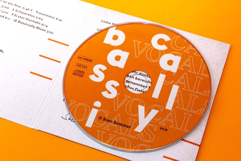Grafikdesign für CD-Bedruckung für Sven Sommer © Christian Weber – Büro für Gestaltung und Kommunikation