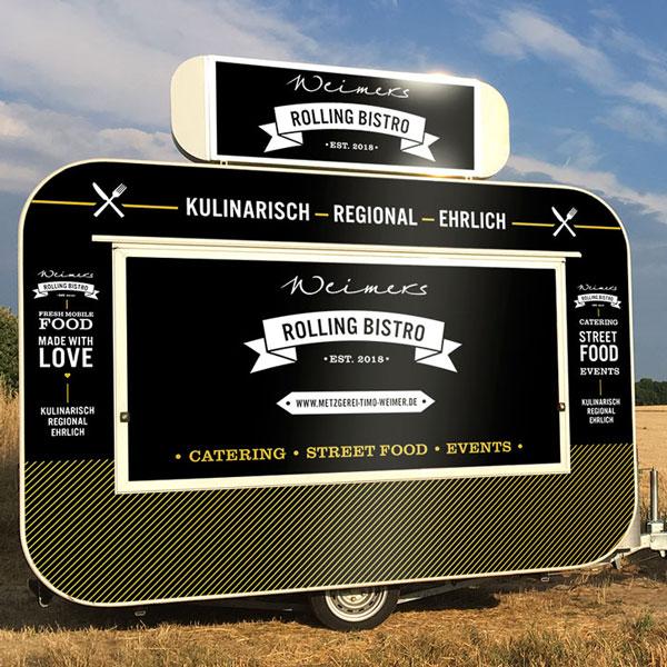 Fahrzeugbeklebung für Weimers Rolling Bistro – Gesamtansicht